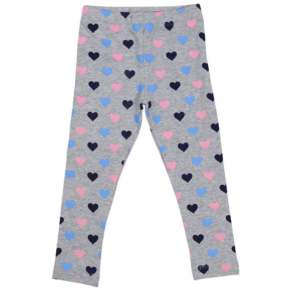 Korango Hearts Print Leggings - Grey
