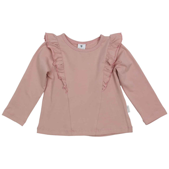 Korango Natural Girl - Long Sleeve Frill Top - Pink
