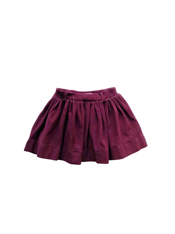 Love Henry - Girls Full Skirt - Wine