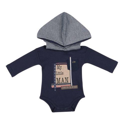 Arthur Ave - Navy Little Man Onesie