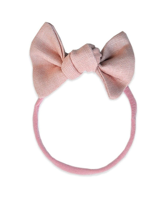 Pretty WIld Kids - Lucille Bow Nylon Headband - Blush Linen