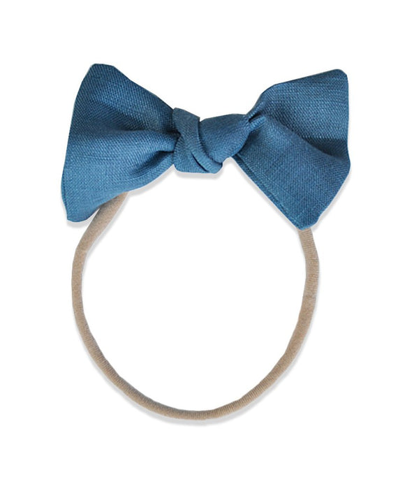 Pretty WIld Kids - Lucille Bow Nylon Headband - Lake Linen