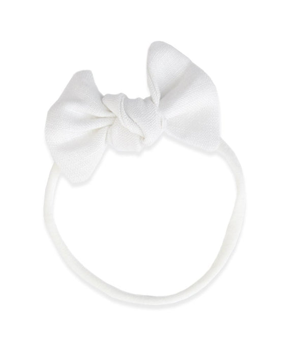 Pretty WIld Kids - Lucille Bow Nylon Headband - Natural Linen