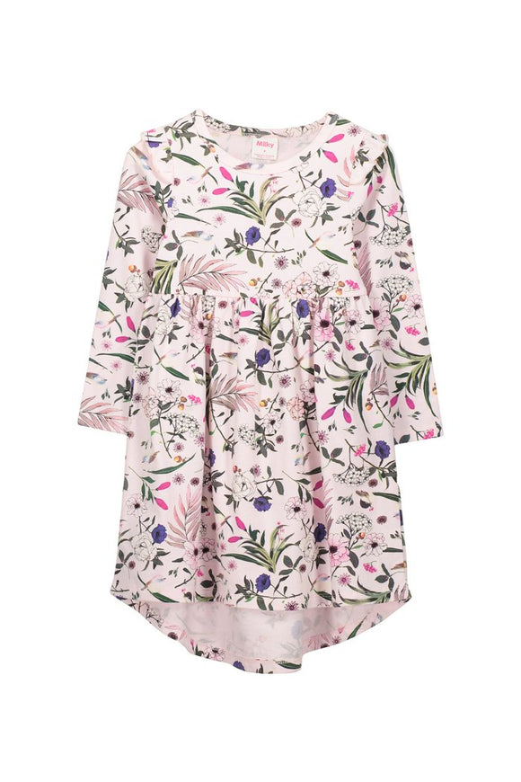 Milky - Pretty Floral Dress - Blossom Pink