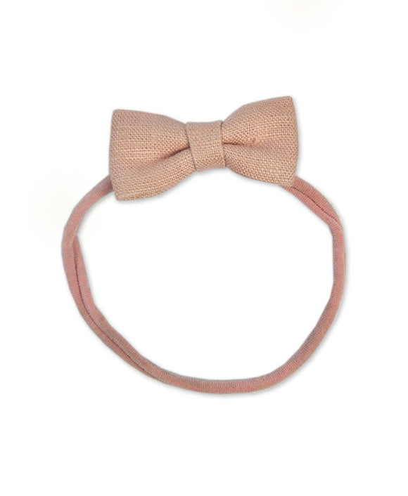 Pretty WIld Kids - Minnie Bow Nylon Headband - Blush LInen