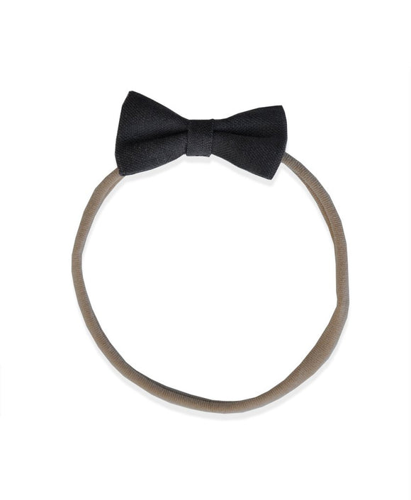 Pretty WIld Kids - Minnie Bow Nylon Headband - Gravel Linen