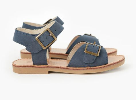 Walnut Ryder Sandal - Navy