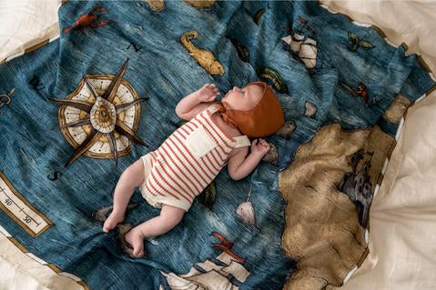 Muslin Organic Swaddle - The Treasure Map