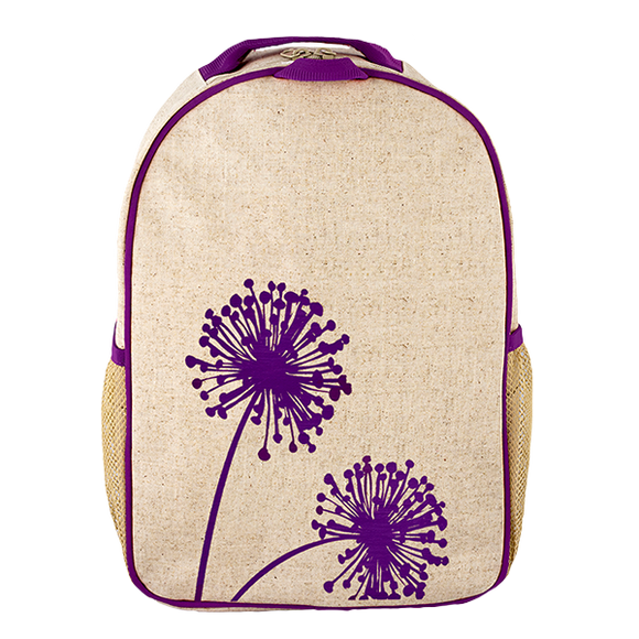 School Backpack - Purple Dandelion