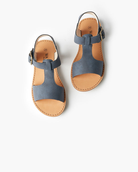 Walnut Racer Sandal - Navy