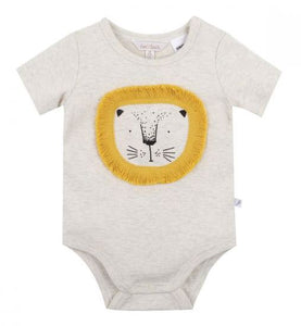 Fox & Finch - Rahh Lion Bodysuit - Oat Marl