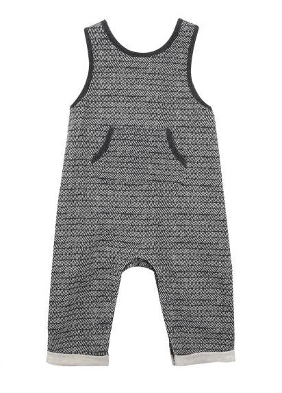Fox & Finch - Rahh Stripe Overall - Charcoal