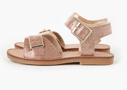 Walnut Ryder Sandal - Rose Jelly Glitter