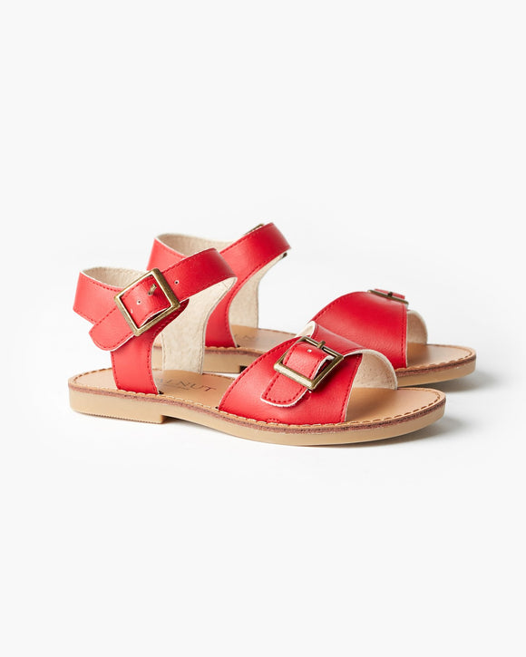 Walnut Ryder Sandal - Red
