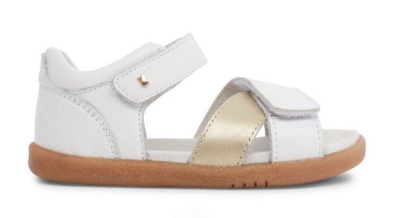 Bobux - I Walk - Sail Sandal - White and Misty Gold