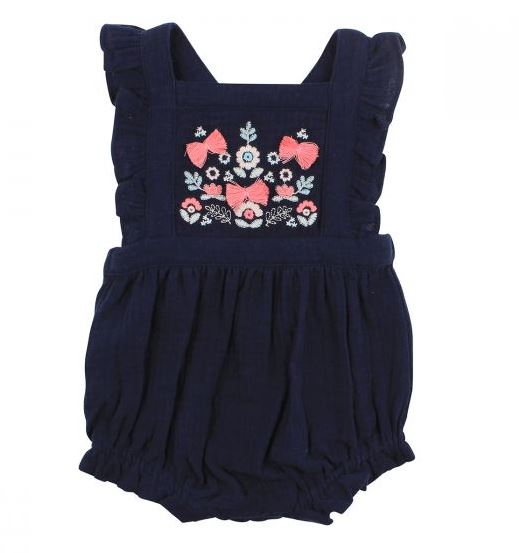 Fox & Finch - Scandi Crinkle Romper - Navy