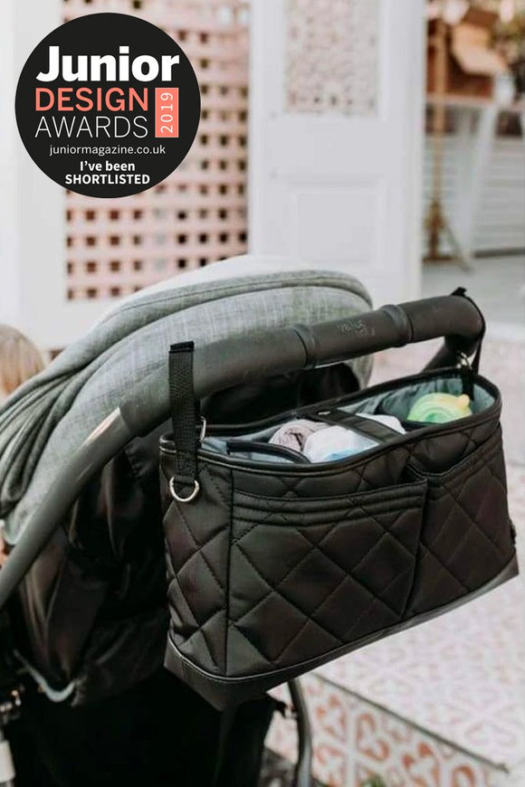OiOi - Stroller Organiser/Pram Caddy - Black Diamond