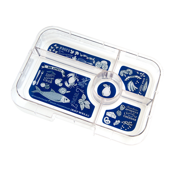 Yumbox - Tapas 5 Compartment Interchangable Tray - Bon Appetit