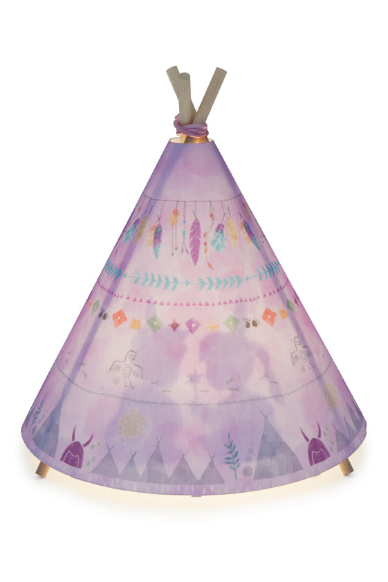 Table Lamp - Teepee - Pink - PRE-ORDER (Due End Sept)