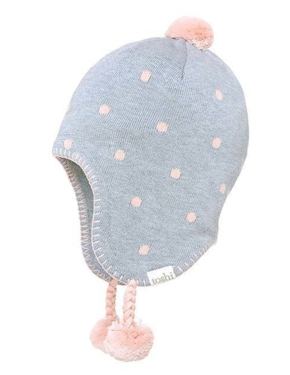 Toshi Beanie - Organic Earmuff Magic  Blue Moon