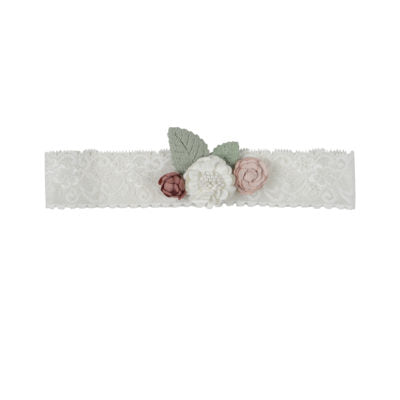 Arthur Ave - Lace White Floral Headband