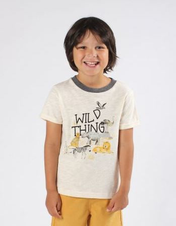 Fox & Finch - Rahh Wild Things Tee Boys - Stone