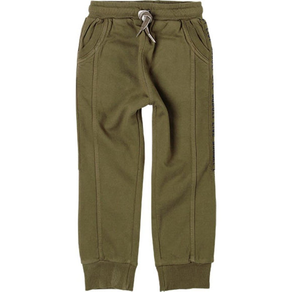 Boboli - Fleecy Lined Trackies - Olive