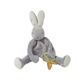 Bunnies by the Bay - Silly Buddy Comforter/Pacifier Holder - Grady Bunny