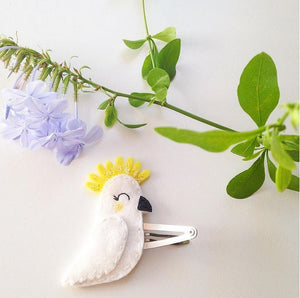 Cherished Cockatoo Necklace + Hairclip