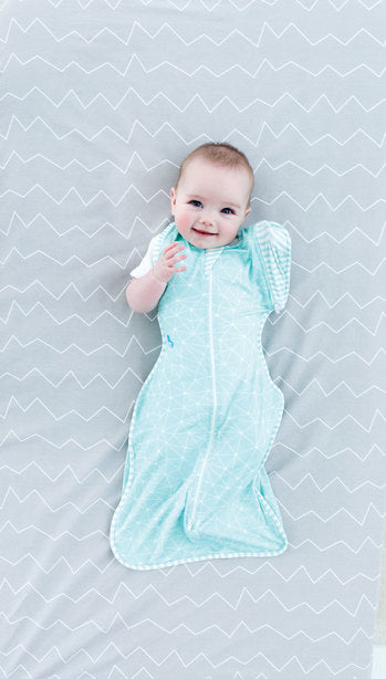 Love to Dream - Swaddle Up 50/50 Bamboo Lite .2 TOG - Aqua
