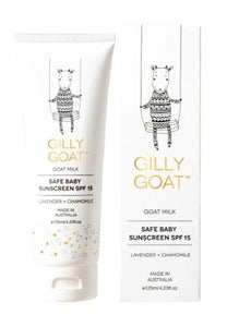 Gilly Goat -Safe Baby Sunscreen SPF15 125ml