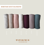 Piper Bug - Heritage Knit Blanket - Mist