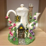 Solar Power Fairy House - Teapot