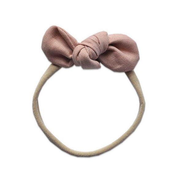 Pretty WIld Kids - Anna Bow Nylon Headband - Blush Linen