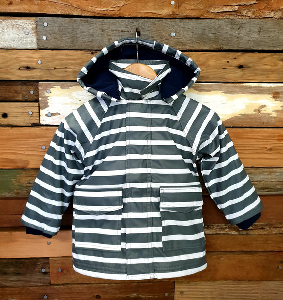 Raincoat - Stripe - Grey
