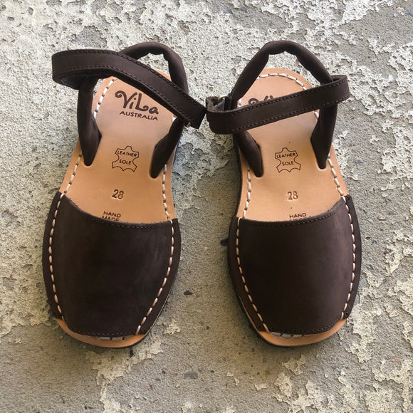 ViLa - Nubuck Leather Sandal - Chestnut