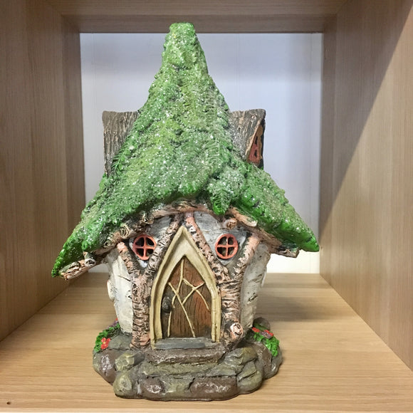 Solar Power Fairy House - Fern House