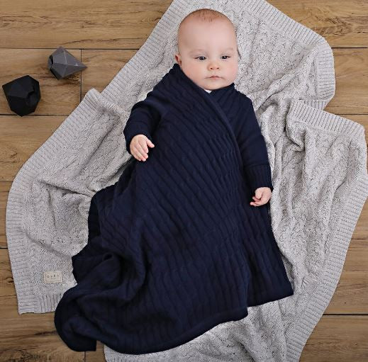 Jujo Baby - Shwrap - Luxury Cable - Navy
