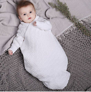 Jujo Baby - Shwrap - Lattice Cable Knit - Chalk