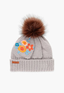 Boboli - Floral Embroidered Beanie
