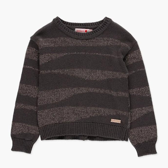 Boboli - Charcoal/Gold Fleck Knit Jumper