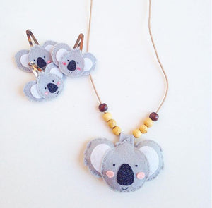 Cherished Koala Necklace + Hairclip