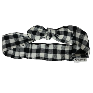 Love Henry - Headband - Black/White Check