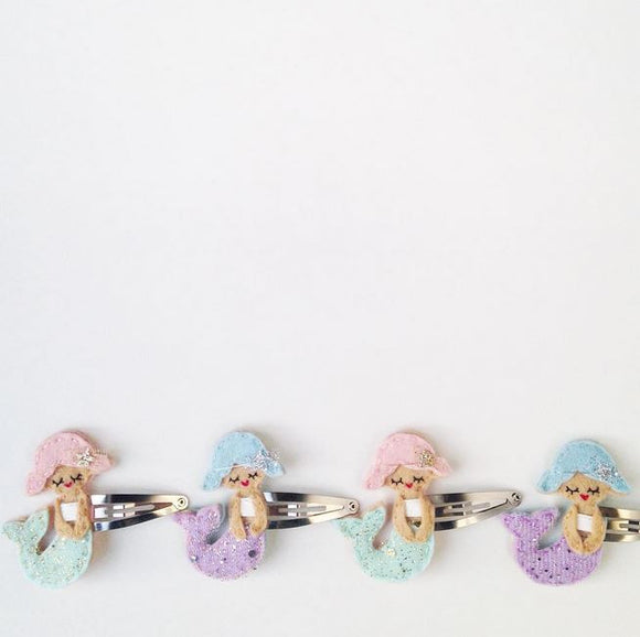 Cherished Mermaid Hairclip - Mint or Purple