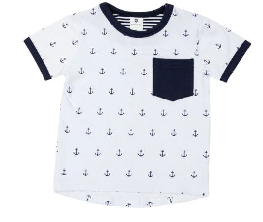Korango - Nautical Printed Pocket Tee