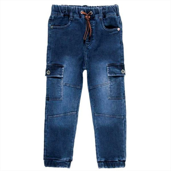 Boboli - Denim Stretch Cargo Pants