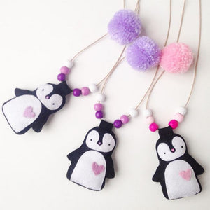 Cherished Penguin Necklace/Hairclip - 3 Colours
