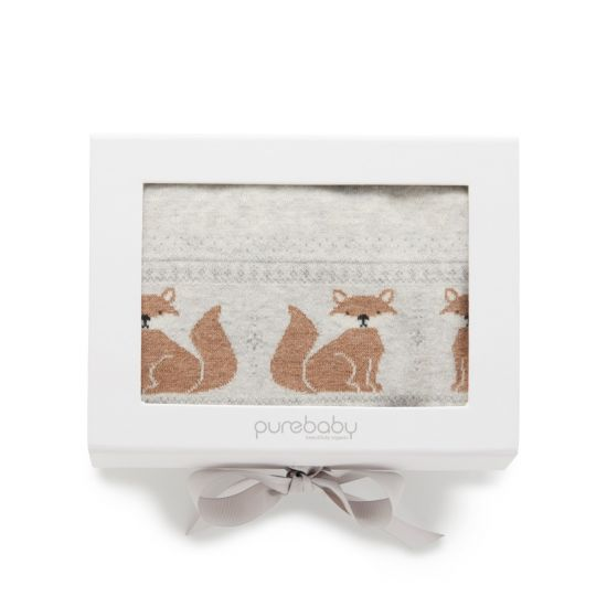 Purebaby - Baby Blanket - Little Fox Fairisle
