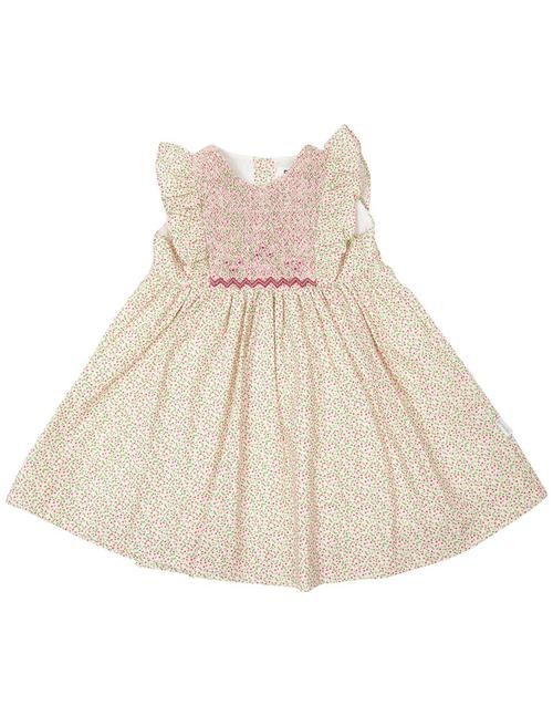 Korango - Pretty Green & Pink Floral Party Dress
