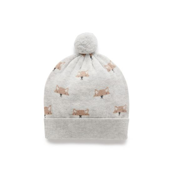 Purebaby - Knit Beanie - Little Fox